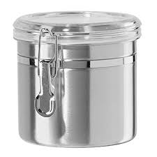 oggi 42 oz stainless steel airtight canister with clear acrylic