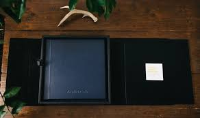 small leather photo album sle leather wedding album ely photography