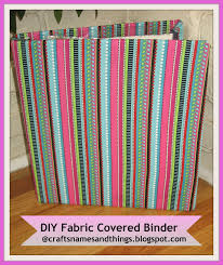 How to Decorate Binders How make to Fabric covered Binders DIY