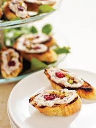 crostini with herbed cream cheese spread hgtv
