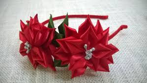 flowers for headbands d i y satin ribbon flower headband tutorial myindulzens