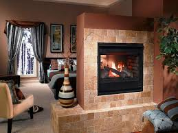 see through wood burning fireplace home fireplaces firepits