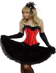 Size Burlesque Halloween Costumes Amazon Yummy Bee Womens Burlesque Corset Long Black Lace