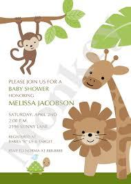 jungle or safari baby shower invitations cute michelle baby