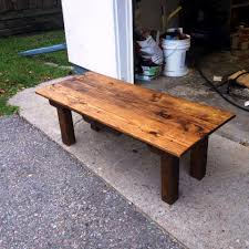 Patio Furniture Made With Pallets - diy coffee table made of oak pallets 101 pallet ideas