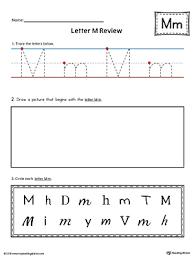 worksheet for kindergarten letter early childhood alphabet