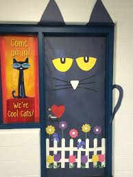 Pete The Cat Classroom Decorations Think Spring Pete The Cat For Your Classroom Door Bulletin Board