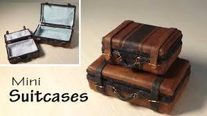 simple miniature suitcase tutorial dolls dollhouse youtube