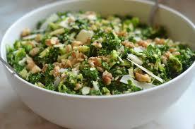 kale brussels sprout salad with walnuts parmesan lemon