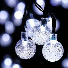 solar powered outdoor string lights solar powered outdoor string lights 30led cold ice ball wat at rs