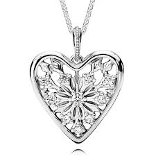 pandora hearts necklace images Pandora heart of winter cz necklace