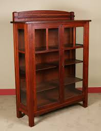Craftsman Furniture Plans Charles P Limbert Two Door China Cabinet With Original Push