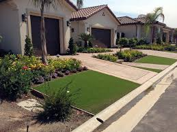 fake grass orcutt california landscape rock front yard design