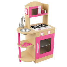 amazon com kidkraft pink wooden kitchen toys u0026 games
