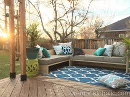 Outdoor Wood Sectional Furniture Plans by Diy Outdoor Sectional Sofa Tutorial Building Plan