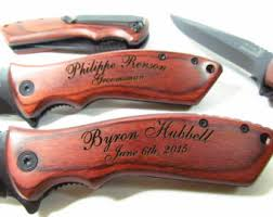 Knives For Groomsmen Spring Assisted
