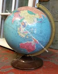 world globe home decor home decor crescent moon antiques and salvage