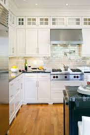 kitchen appealing glass kitchen backsplash white cabinets 17