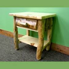 Rustic Pine Nightstand Northern Rustic Pine Finished Midwest Log Furniture
