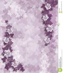 wedding invitation purple floral template stock photography