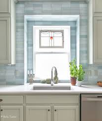 white kitchen cabinets with blue subway tile color kitchen update tucker