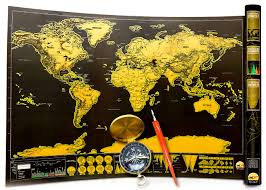 Scratch Off World Map Word Map Scratch Off Interactive World Map By Info Glob Black