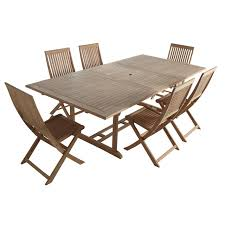 chaises castorama salon ensemble table 6 chaises en teck prix promo castorama 578 00