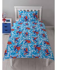Teal Single Duvet Cover Spiderman Popart Single Duvet Cover And Pillowcase Set Bedroom