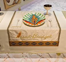 judy chicago dinner table brooklyn museum saint bridget