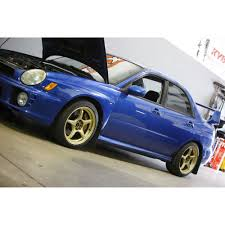 blue subaru gold rims mach v 17x9 awesome wheel fastwrx com