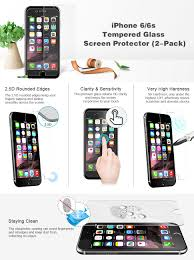 iphone 6s screen protector jetech 2 pack premium tempered glass