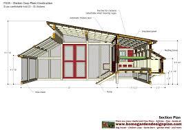 Chicken Coop Floor Plan Home Garden Plans M105 Chicken Coop Plans Construction