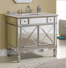 this adelina 36 inch mirrored silver bathroom vanity will add