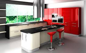 Unfinished Shaker Style Kitchen Cabinets by Contemporary Furniture Modern Kitchen Red Cabinet Black White