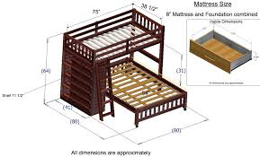 Discovery World Furniture Twin Over Full Merlot Loft Beds KFS STORES - Full loft bunk beds