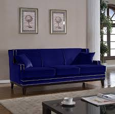 Velvet Sofa Bed Modern Velvet Sofa Nailhead Trim Kitchen Dining
