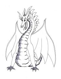 free printable dragon coloring pages kids picture