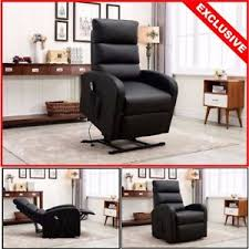 new electric lift power recliner chair bonded leather with remote