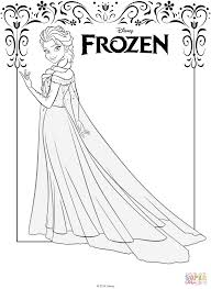 elsa frozen coloring free printable coloring pages