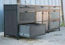 catchy vintage metal storage cabinet industrial vintage tall metal