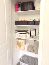 girly u0026 glam bathroom linen closet organization bekahbee