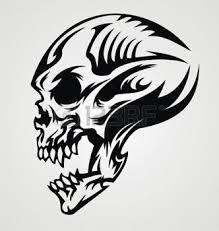 tatouage gothique conception de tatouage de crâne illustration