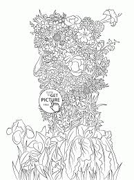 woman spring coloring page for kids seasons coloring pages