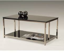 black side table with shelf glass coffee table modern black side tables storage shelf metal legs