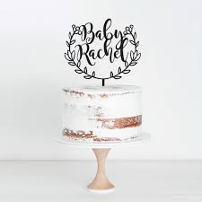 name cake topper baby custom name cake topper daydream