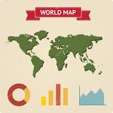 Vintage World Map by Vintage World Map With Infographic U2014 Stock Vector Dimgroshev