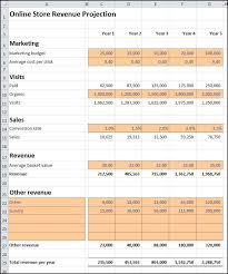 online store revenue projection plan projections