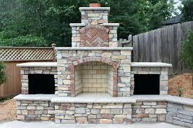 amazing outdoor brick fireplace suzannawinter com