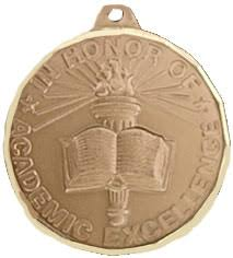 graduation medals honors graduation medallions gold medals with white blue ribbon