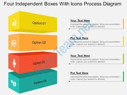 free 3d process flow diagram for powerpoint with colored 3d shapes
